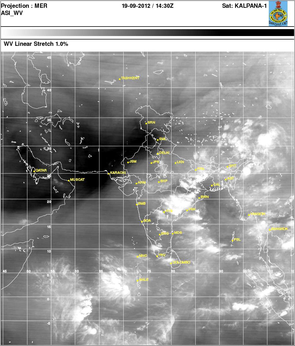 Withdrawal Of Southwest Monsoon Current Situation - Current satellite