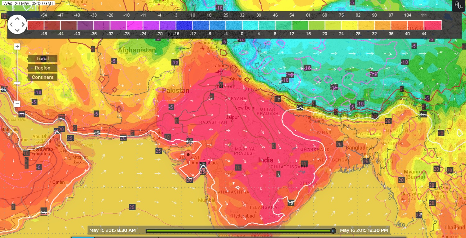 Hot Weather Forecast Over Northwest North Central India